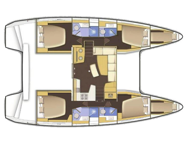 Lagoon 42 (BLUE STEEL (generator, air condition, water maker)) Plan image - 7