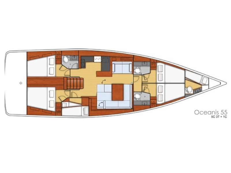 Oceanis 55 (LUCKY TRADER (generator, air condition)) Plan image - 6