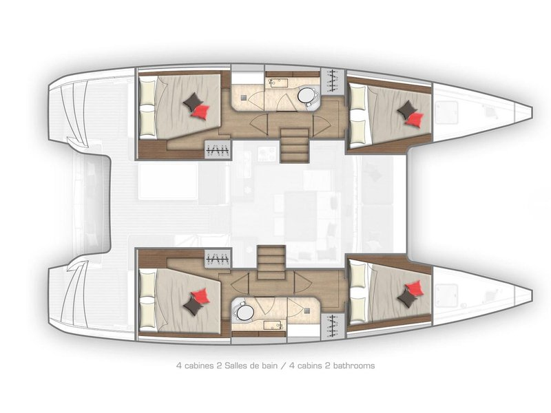 Lagoon 40 (Sunshine (A/C, Generator, Water Maker, FULL EXTRAS, First time for charter)) Plan image - 4