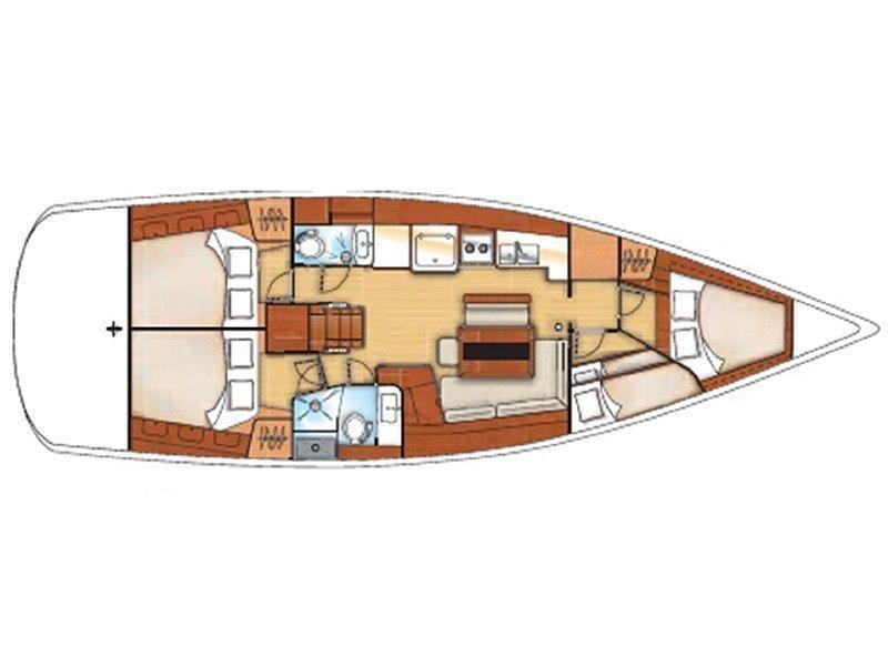 Oceanis 46 (O46-11) Plan image - 1