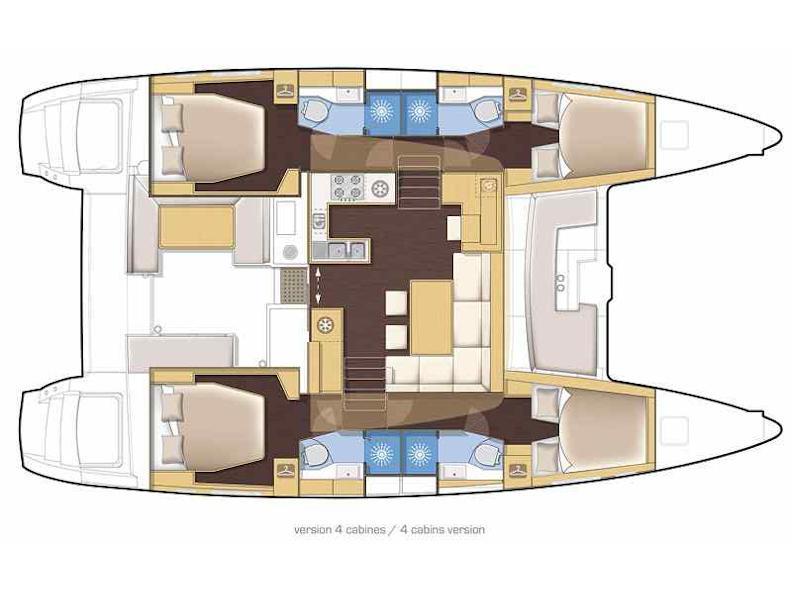 Lagoon 450  Flybridge (Zia Nella) Plan image - 4