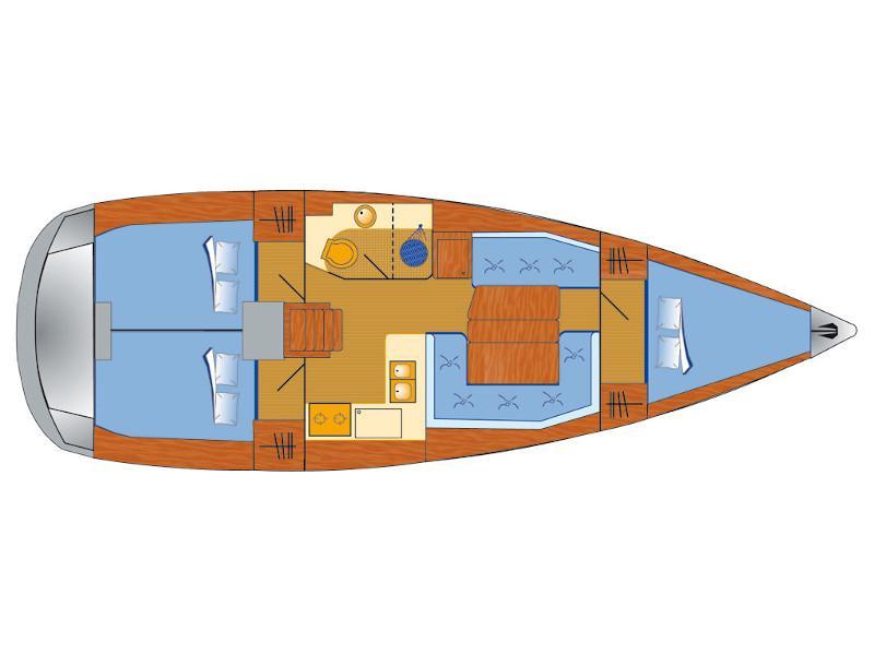 Sun Odyssey 389 (Amadeus) Plan image - 3