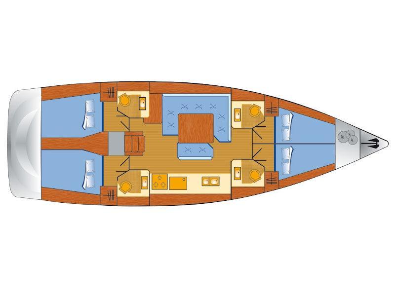 Sun Odyssey 479 (Vencel) Plan image - 10