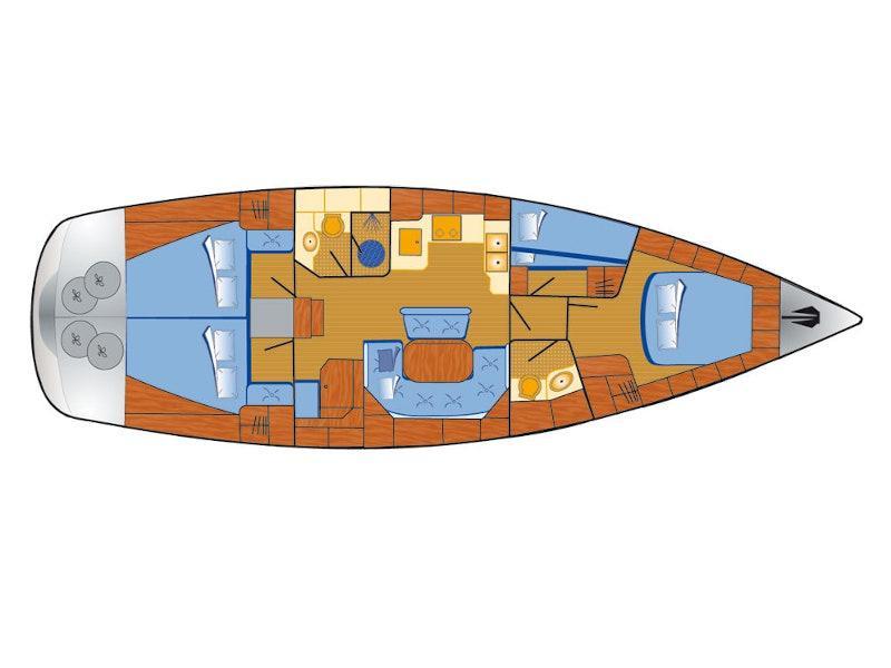 Bavaria 46 Cruiser (Tweety) Plan image - 15