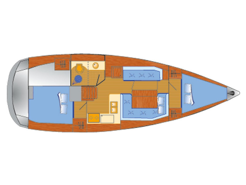Sun Odyssey 389 - 2 cab (Tara) Plan image - 7