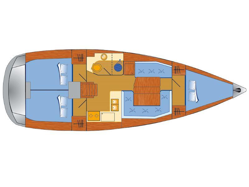 Sun Odyssey 389 (Tequila Sunrise) Plan image - 10