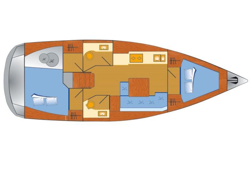 Dufour 382 Grand Large - 2 cab (Lia) Plan image - 10
