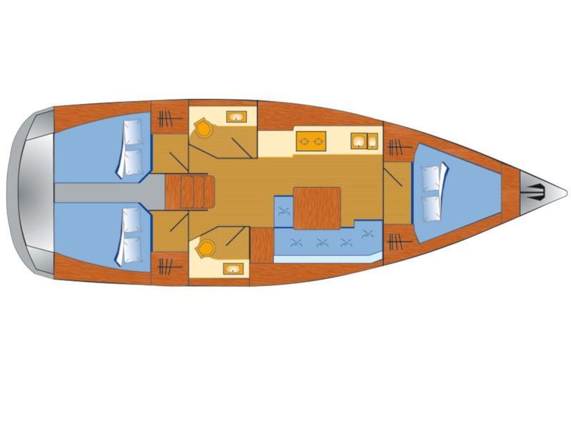 Dufour 382 Grand Large - 3 cab (Lotta) Plan image - 2