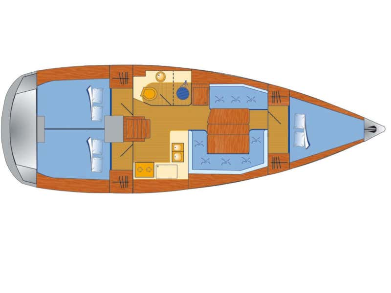 Sun Odyssey 389 (Sissi) Plan image - 12