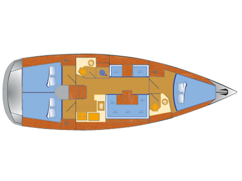 Sun Odyssey 419 (Happy Welcome) Plan image - 10