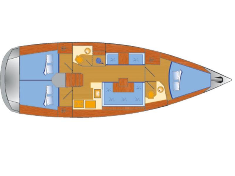 Sun Odyssey 419 (Espresso) Plan image - 13