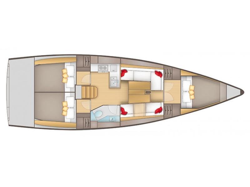 Salona 380 (Frane) Plan image - 3