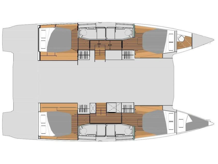 Elba 45 Quatour (PRINCESS VALERIA - AC and generator) Plan image - 1