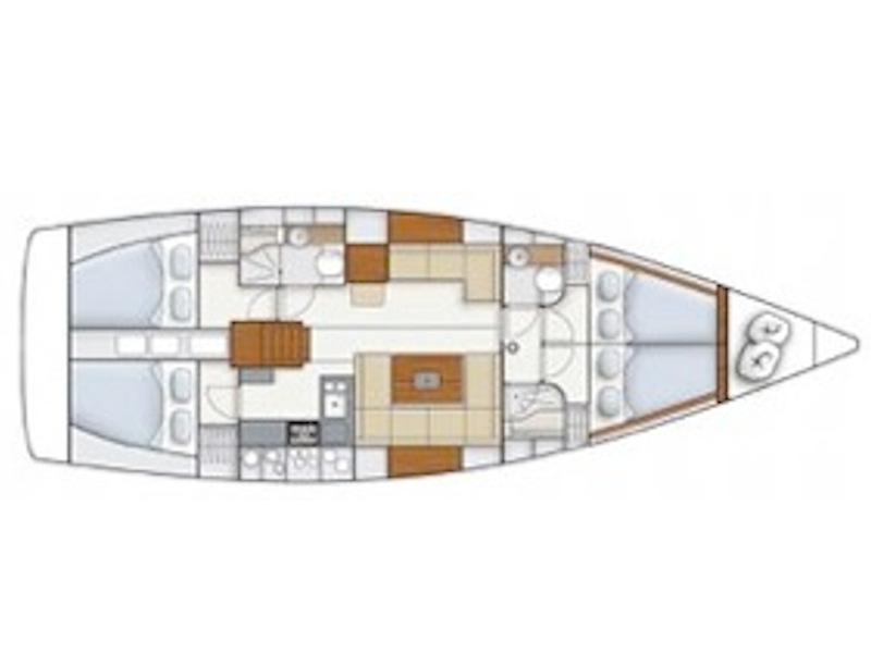 Hanse 445 (Midi Etoile) Plan image - 2