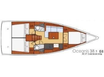 Oceanis 38.1 (Lampo) Plan image - 1