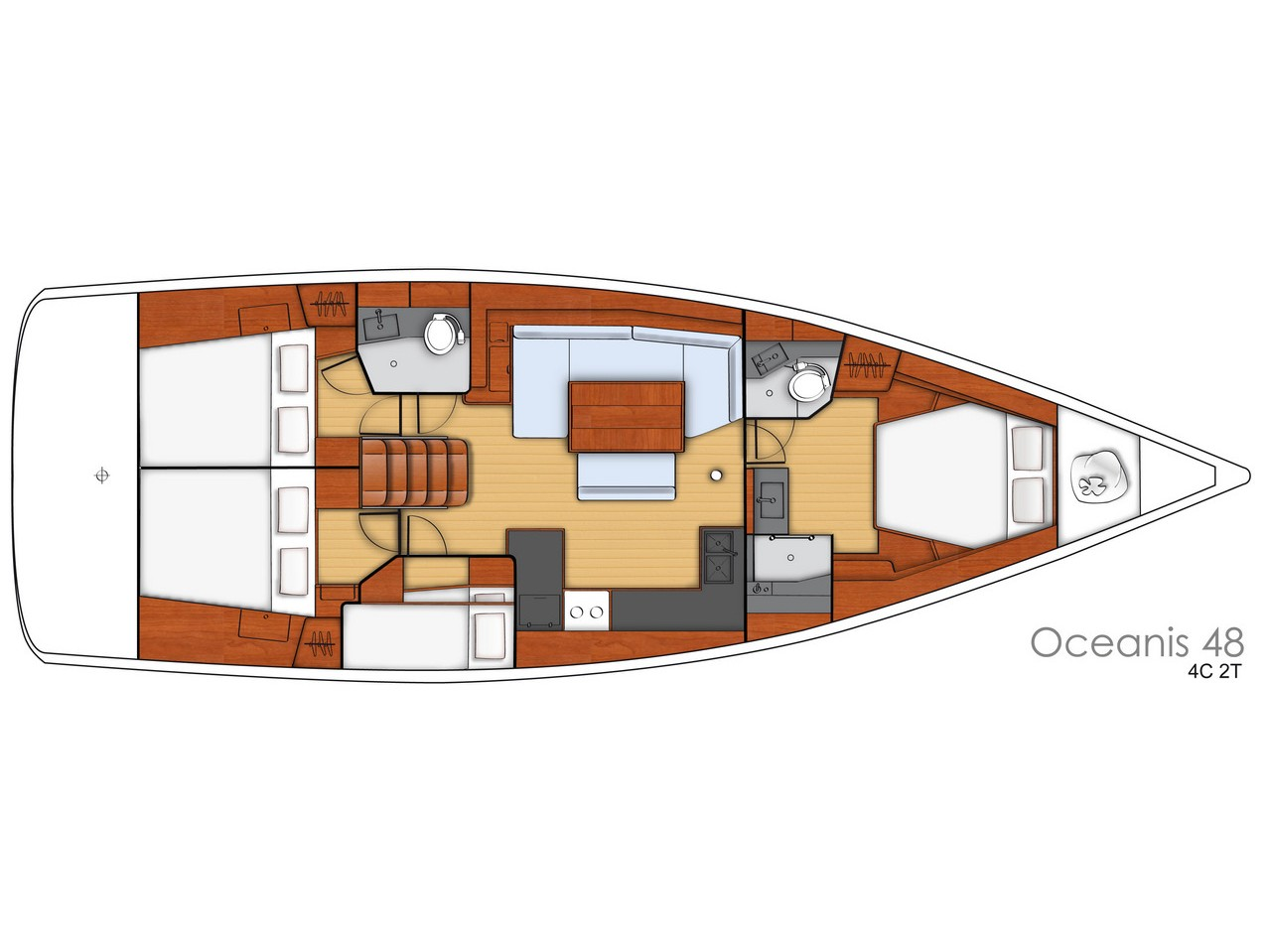Oceanis 48 (Roxanna (!!!!From Monday)) Plan image - 10