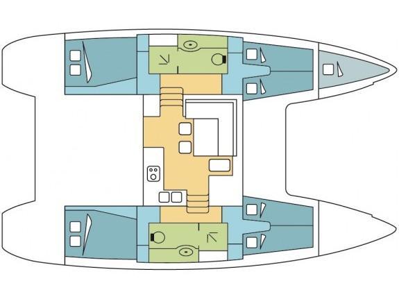 Lagoon 400 S2 (Opale 4) Plan image - 2
