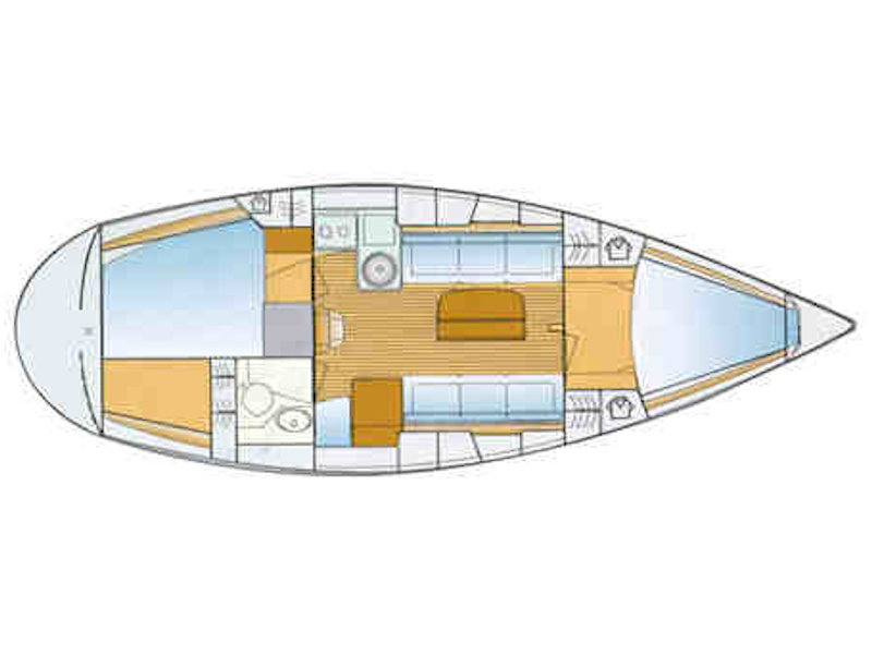 Bavaria 34 Cruiser (Happy Day) Plan image - 1