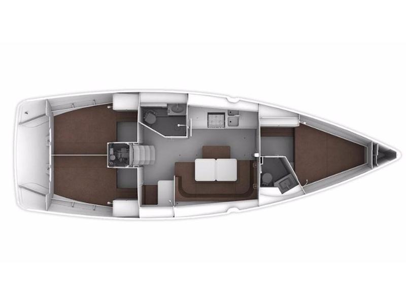 Bavaria Cruiser 41S (Heroes) Plan image - 1
