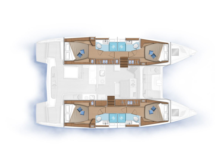 Lagoon 46  (3S) Plan image - 2