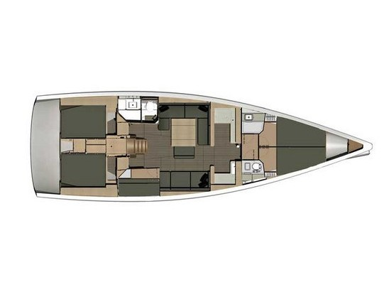 Dufour 500 Grand Large (Nirvana (refit 2020)) Plan image - 35
