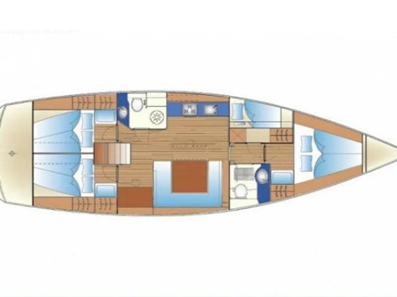 Bavaria 47 Cruiser (Bavaria 47 Rhodes) Plan image - 2
