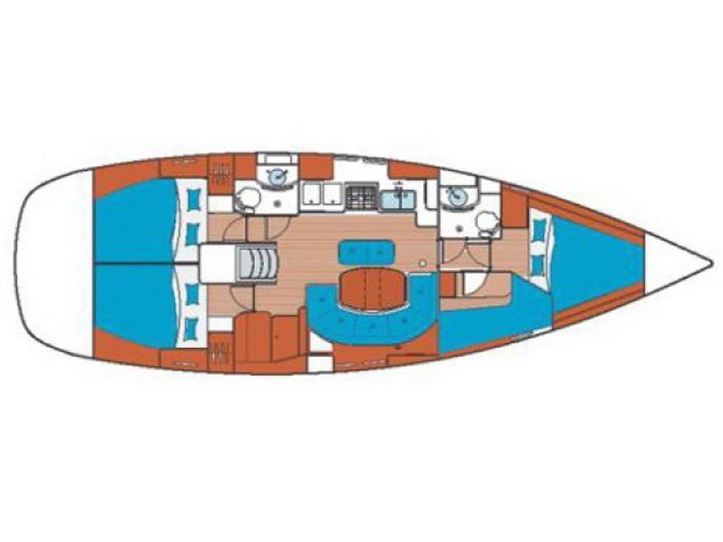 Oceanis 41.1 (NIRIIS) Plan image - 2