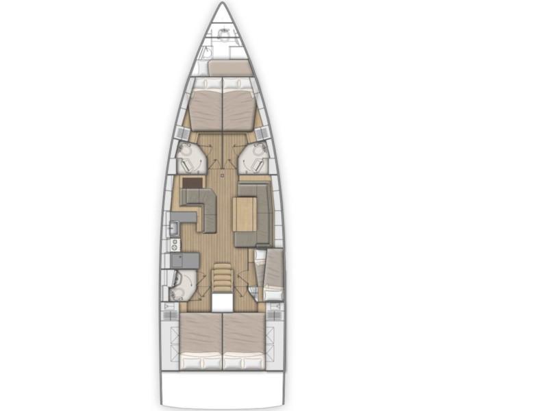 Oceanis 51.1 (KOS 51.1) Plan image - 2
