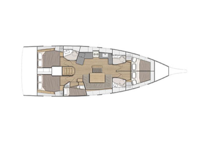 Oceanis 46.1/4cbs (PRES-460-19-CR) Plan image - 1
