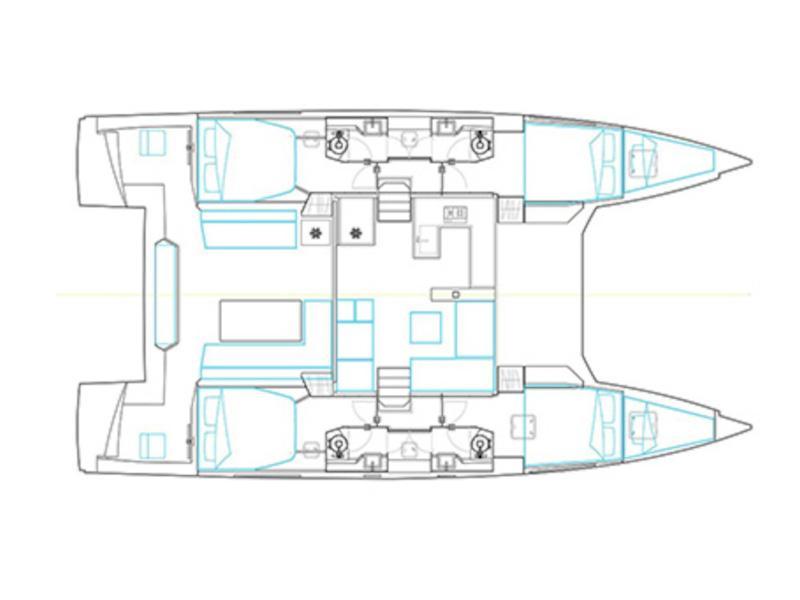 Nautitech 46 Fly (PRES- 46F-18-G) Plan image - 1