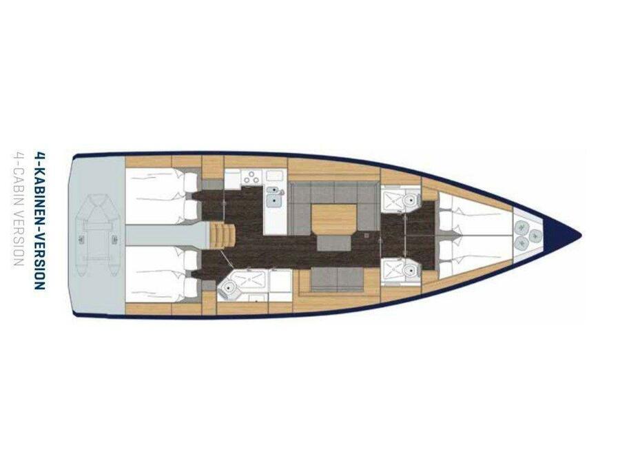 Bavaria C45 Style (Katharina ) Plan image - 11