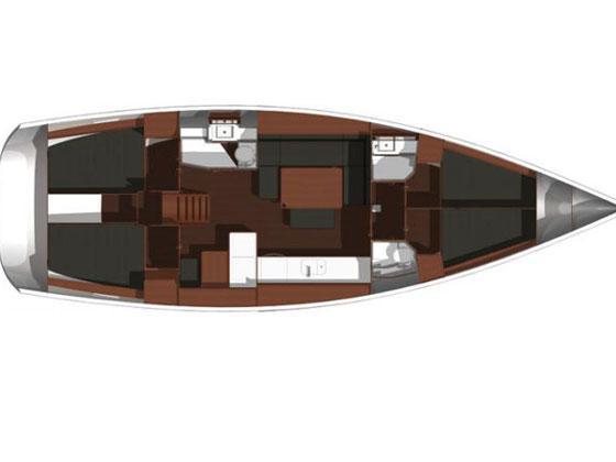 Dufour 455 Grand Large (Vieni via con me ) Plan image - 5