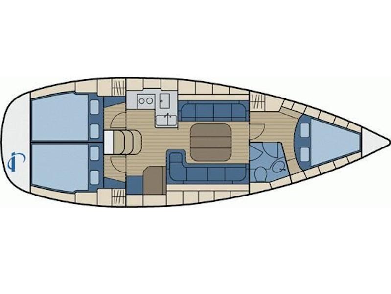 Bavaria Cruiser 37 (Negan) Plan image - 1