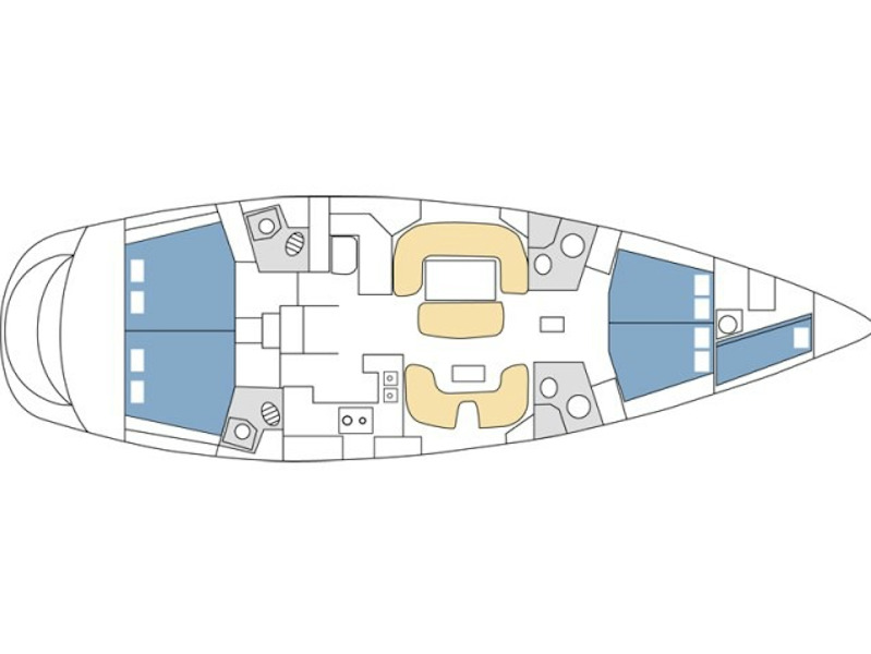 Sun Odyssey 54DS (Veni) Plan image - 1