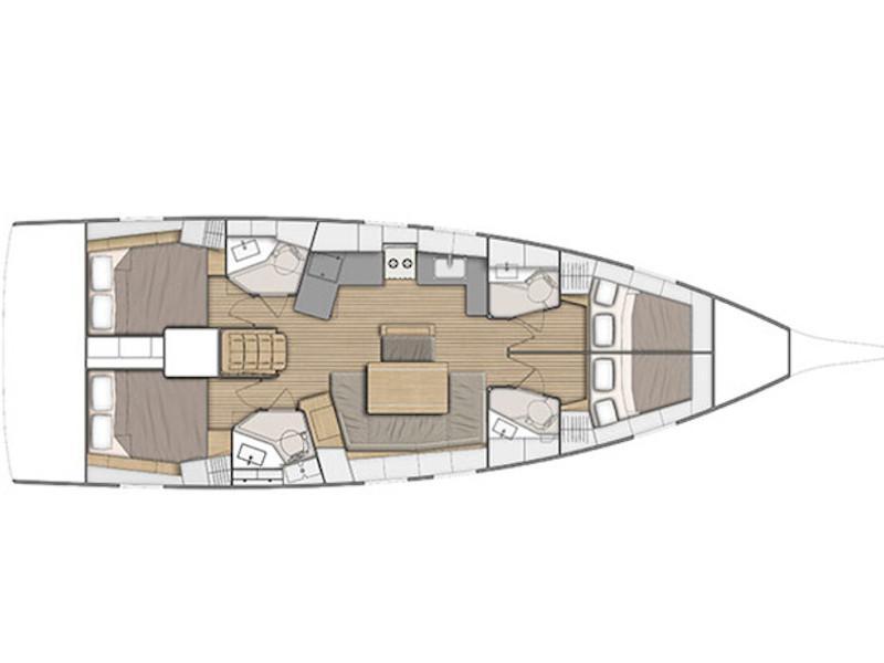 Oceanis 46.1 (Aeolian Melody) Plan image - 2
