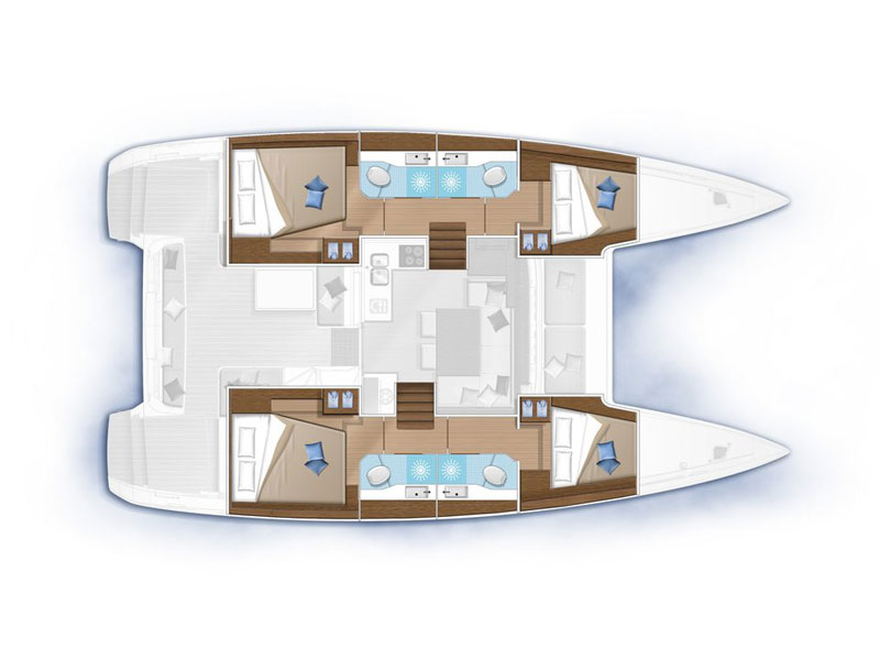 Lagoon 40 (Trinacria) Plan image - 2