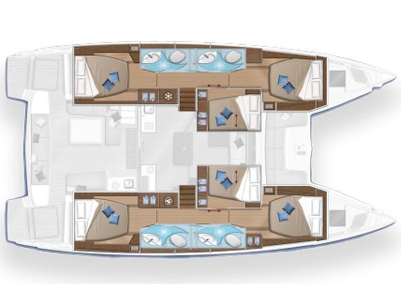 Lagoon 50 (Colibrì Platinum Service) Plan image - 2
