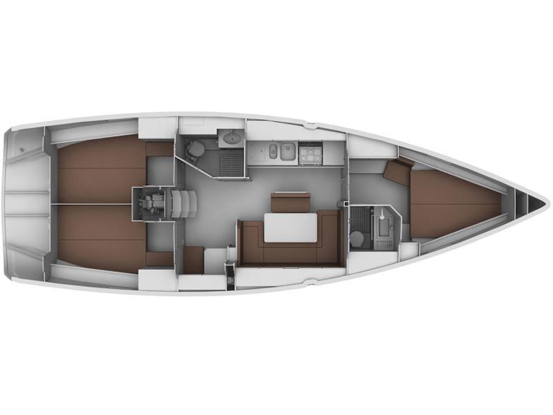 Bavaria Cruiser 40S (wind pearl) Plan image - 1