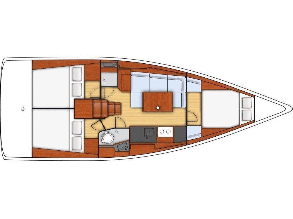 Oceanis 38 (Grey Pearl ) Plan image - 1