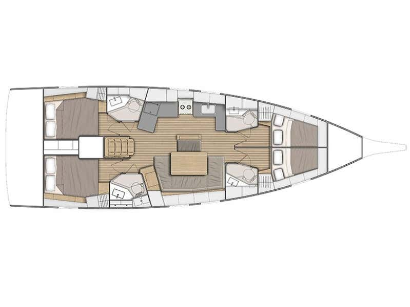 Oceanis 46.1 (Nayia) Plan image - 1