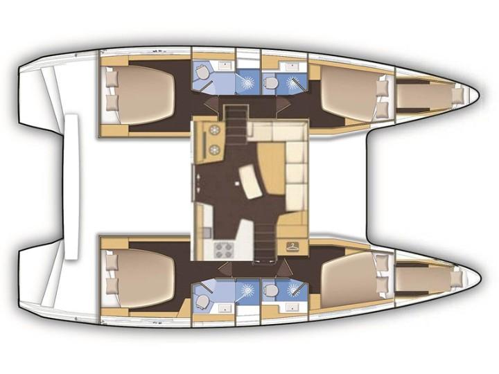 Lagoon 420 (Sail Adasu) Plan image - 1