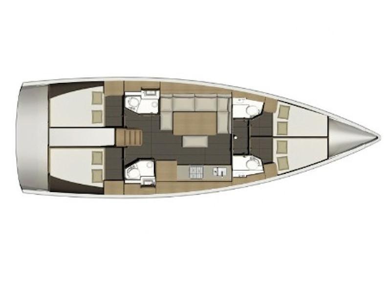 Dufour 460 Grand Large (Gea) Plan image - 15