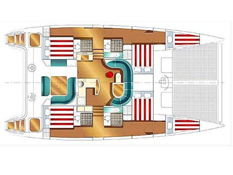 Nautitech 47 (Athos) Plan image - 1