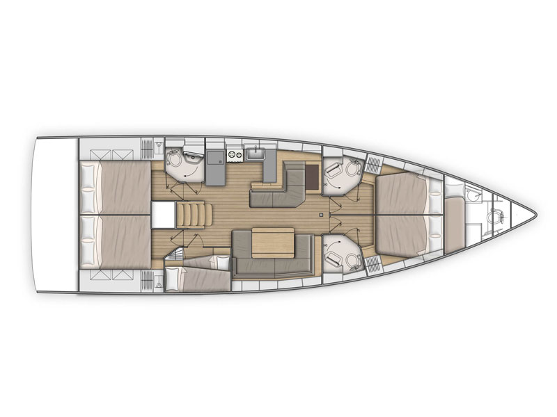 Oceanis 51.1 (Avocado) Plan image - 2