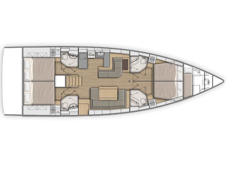 Oceanis 51.1 (Aeolian Muse) Plan image - 4