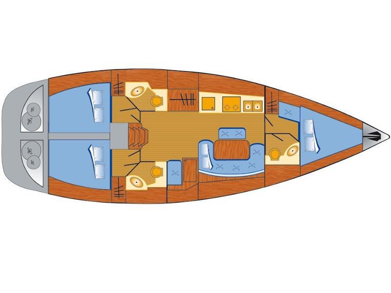 Cyclades 43.3 (Fame) Plan image - 1