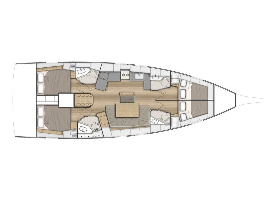 Oceanis 46.1 (Ellaida Built 2019) Plan image - 2