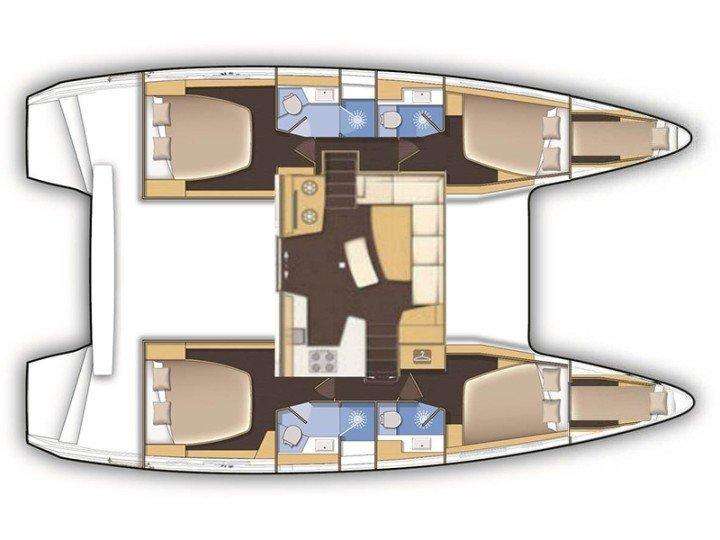 Lagoon 42 (Majorelle Blue) Plan image - 2