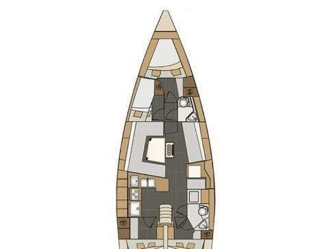 Elan Impression 45 BT (Knotty Buoy) Plan image - 1