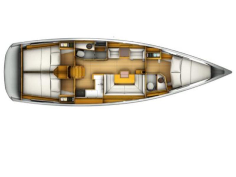Sun Odyssey 419 (Turrun Turrun) Plan image - 2